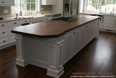 Custom Walnut Slab Kitchen Island Top By Spiritcraft