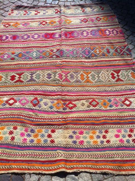 teppich türkis vintage pink cicim kilim rug decorative embroidered pink blue orange kilim rug handwoven wool kilim