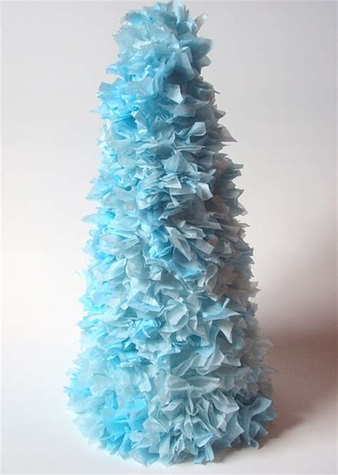 christmas tree tissue paper cone tree craft tissue paper tree familycorner forums