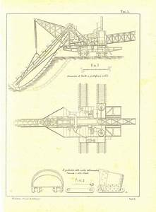 1900 Technical Drawing, Excavator Mechanical Drafting ...