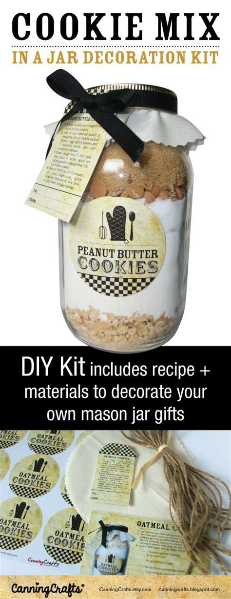 vintage cookie jar decoration diy kit mason cookie jar