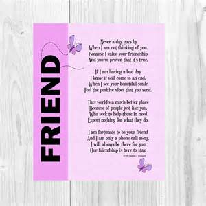 Printable Thank You Best Friend Poems
