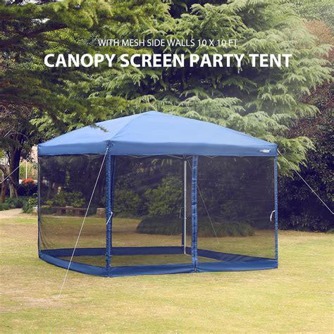 pop  canopy  netting screen house instant gazebo party tent    ft blue walmart