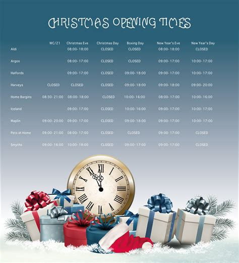 christmas opening times mostyn chneys shopping in