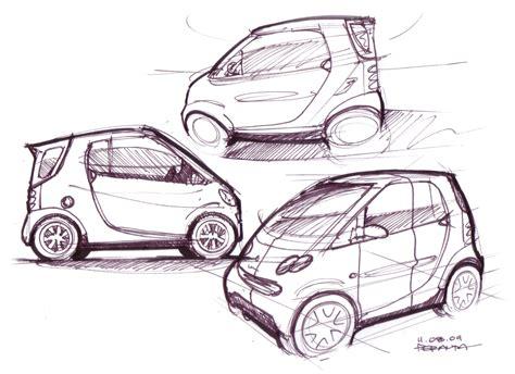 car sketch lineweights