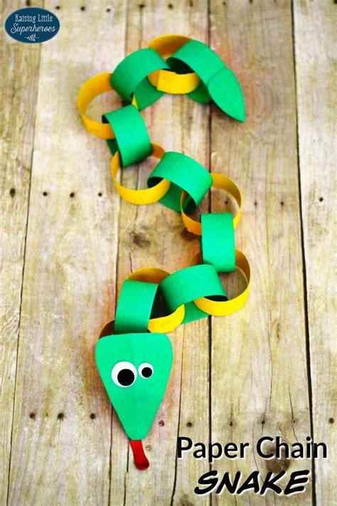 paper chain snake allfreekidscrafts