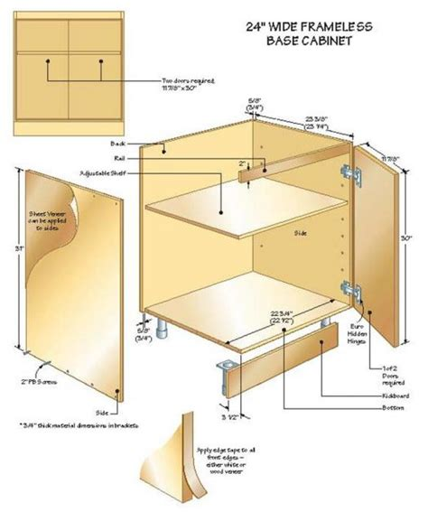 building frameless kitchen cabinets building base cabinets part 3 4972