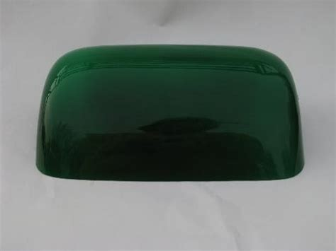 Green Bankers L Shade Replacement by Banker S Green Cased Glass Shade For Vintage Student Desk