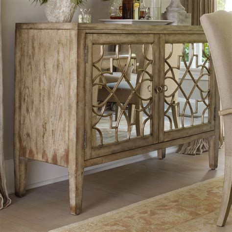 hooker furniture sanctuary  door mirrored console