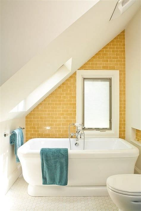 Modern Yellow Bathroom Decor by Mustard Yellow Subway Tiles Decorology S Favorite Places