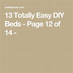 13, Totally, Easy, Diy, Beds
