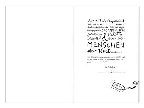hochzeitsgaestebuch im schlichten design kalligrafie mit