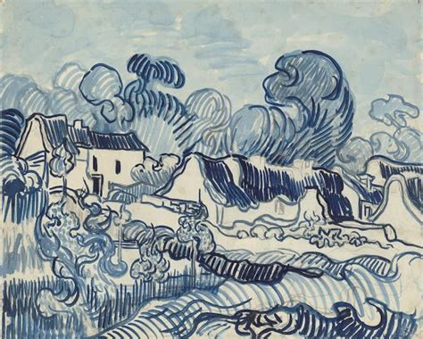 Amsterdam Museum Foundation by Landscape With Houses 1890 Vincent Van Gogh Van Gogh