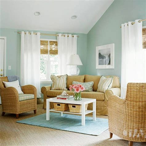 Pale Blue Living Room Photo