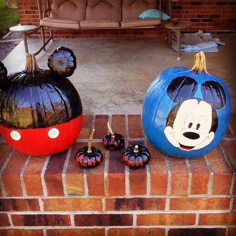 mickey mouse pumpkin ideas mickey mouse painted pumpkins pinterest cakes things made our way pinterest disney