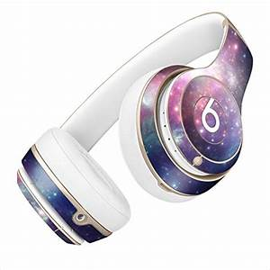 Dre Beats Solo 2 Pink and Blue Galaxy Skin