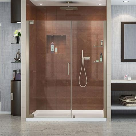 60 shower door dreamline elegance 60 in x 34 in x 74 75 in semi