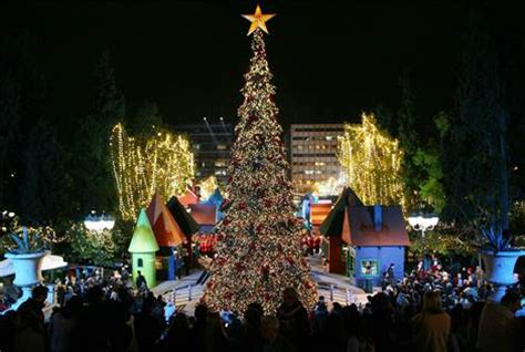 christmas decoration in greece in athens athenstyle s