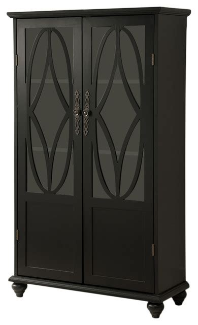Curio Bookcase by Mullac Wood Curio Bookcase Black Traditional China