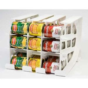 can storage rack fifo can tracker food storage organizer pantry rotation up