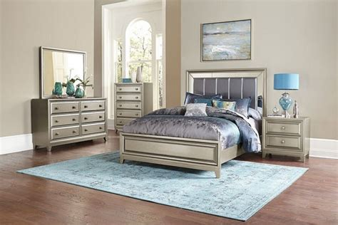 glamorous  pc gray mirrored king bed ns dresser mirror bedroom furniture set ebay