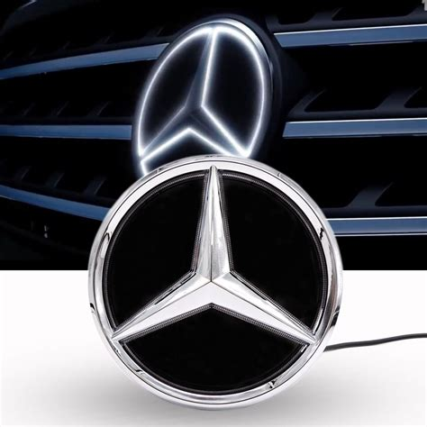 Has anyone done it for the new c class yet ? Mirror Car Led Logo Emblem Grille Light For Mercedes Benz Twist Type   eBay
