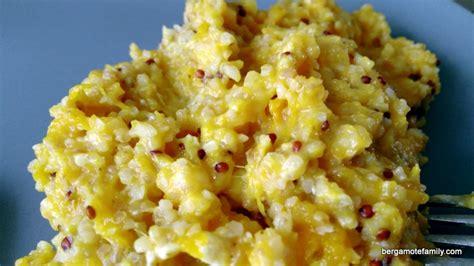 cuisiner du potiron quinoa au potiron pour bébé façon risotto bergamote family
