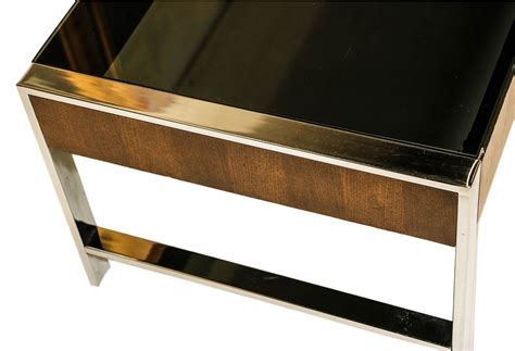 Please contact us to schedule a viewing. Mid Century Chrome Smoked Glass Coffee Table Milo Baughman Style   Mary Kay's Furniture