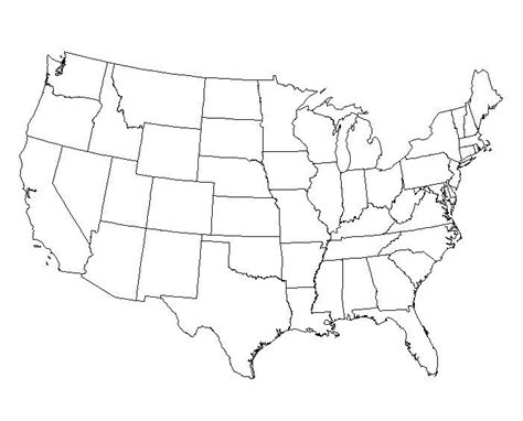 blank outline maps   united states schools