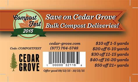 cedar grove coupon