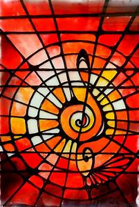 Stained, Glass, Painting, Musical, 1, U2013, Creative, Art