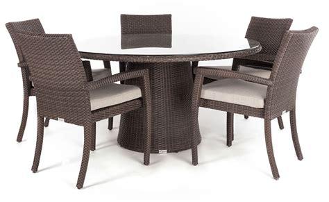 table ronde patio table 224 d 238 ner jardin ronde delia pour 4 224 8 personnes ogni