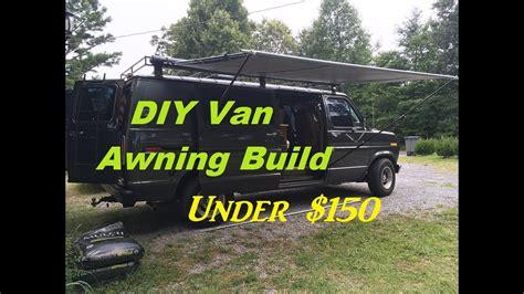 diy retractable camper van awning build    youtube