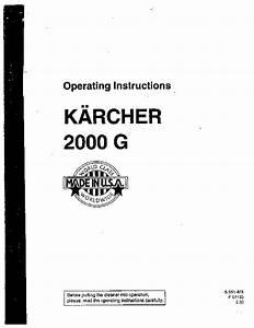 K U00e4rcher K 2000 G Gasoline Power High Pressure Washer