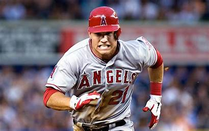 Trout Mike Baseball Mlb Wallpapers Hall Team