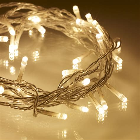white christmas lights amazon 40 warm white led indoor fairy lights on clear cable