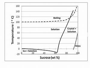 The Sugar  Water Phase Diagram For The Sugar  Water System