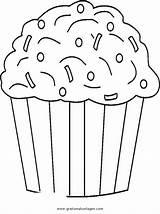 Cupcake Coloring Sprinkles Muffin Colorare Malvorlage Disegno Cupcakes Ausmalbilder Disegni Chocolate Template Printables Diverse Malvorlagen Immagini Gratis Ausmalen Birthday Netart sketch template