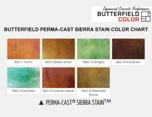 butterfield perma cast sierra stain color chart diamond