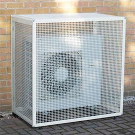 ac duct supplies air conditioning condensing unit small protective cage cg s