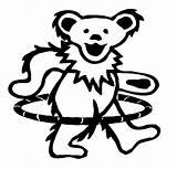 Grateful Dead Dancing Bear Bears Hula Drawing Coloring Hoop Hooping Greatful Decal Tattoo Teddy Template Diecut Tattoos Skull Prosportstickers Sticker sketch template