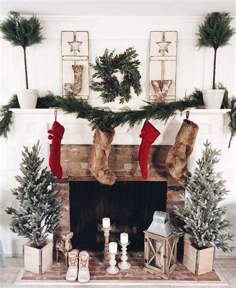 christmas fireplace christmas mantle holiday decor  atlynzyandco instagram