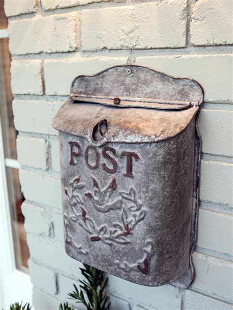 Antique Mailbox Affixed To The House  Hgtv