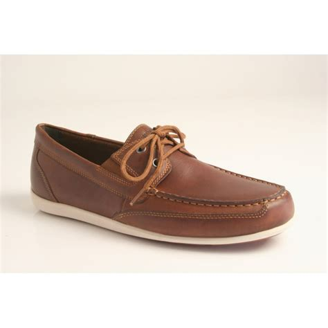 rockport rockport style bl4 boat shoe in brown waxed