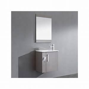 Meuble Salle De Bain Gris : pour ma famille meuble salle de bain gris perle ~ Preciouscoupons.com Idées de Décoration