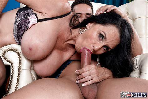 Brunette Cougar Rita Daniels Baring Large Granny Tits