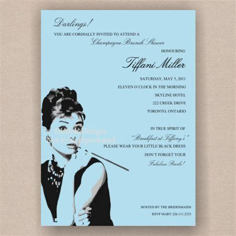 breakfast at tiffany s bridal shower print it yourself