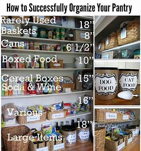 Tips and ideas for organizing your pantry diy for life for How to organize your pantry shelves
