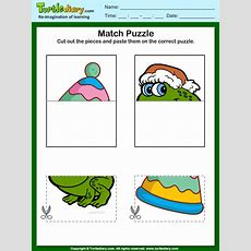 Cut And Paste Picture Puzzle Worksheet  Turtle Diary
