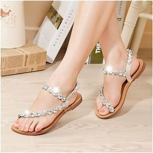 Every bride will love to wear these wedding flat sandals for Flat dress sandals for weddings